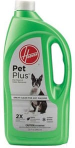 hoover 2x petplus pet stain and odor remover